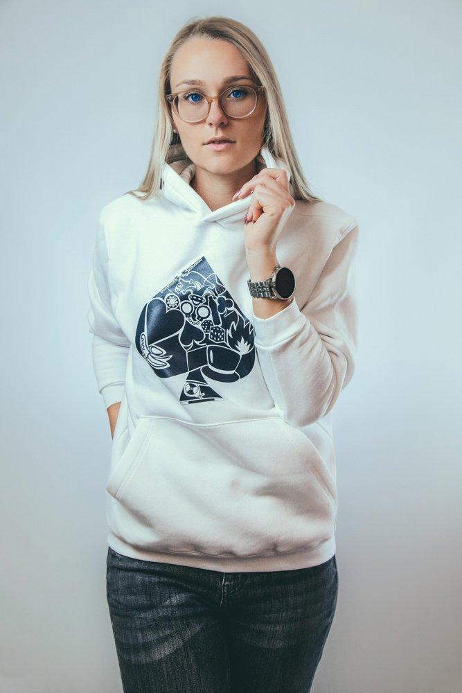 Sarah hoodie white